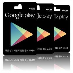 韓國 ₩10000 Google Play Gift Card 禮品卡