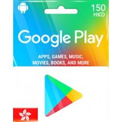 香港 HK$150 Google Play Gift Card 儲值卡