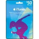 美國 $50 iTunes Gift Card 禮品卡