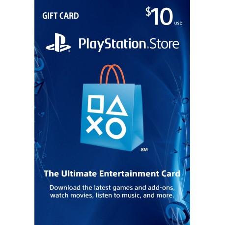 美國Playstation Network Card PSN $10 禮物卡