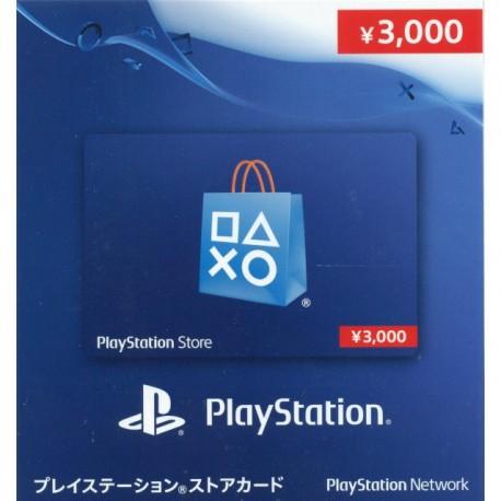 Japan Playstation Network Card PSN ¥3000 Gift Card