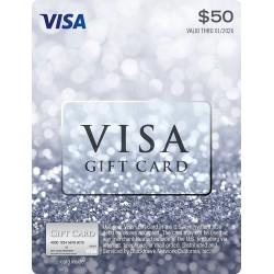 美國 $50 VISA Gift Card 禮物卡