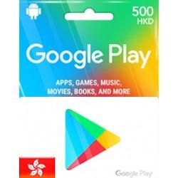 香港 HK$500 Google Play Gift Card 儲值卡